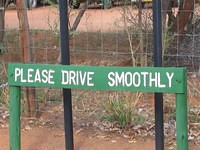 Please drive smoothly