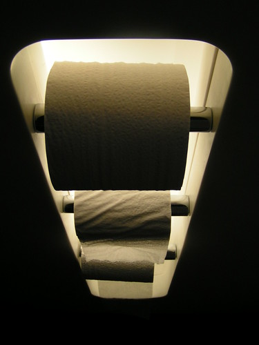 backlit toilet paper