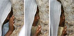 Woman Praying During Festival Of Mariam Dearit, Keren, Eritrea (Eric Lafforgue) Tags: voyage africa travel people canon canoneos20d choices eritrea eastafrica aoi eritreo erytrea lafforgue eritreia  ericlafforgue lafforguemaccom mytripsmypics ertra ericlafforgue    eritre   rythre eritreja eritria africaorientaleitaliana    eritre eritrja  eritreya  erythraa erytreja