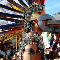 dancer (Mary Hockenbery (reddirtrose)) Tags: newmexico southwest male topv333 mask dancer reddirtrose taos aztecdancer ybp grupotlaloc