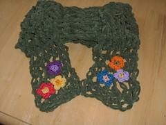 Flower Garden Scarf (Suncatcher Craft Eyes) Tags: flowers scarf crochet crocheted