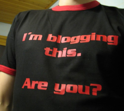 My new I'm blogging this T-shirt