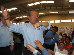 Felipe Calderon campaigning