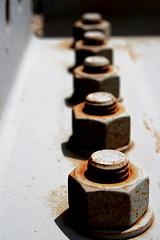 nutty (SmackNally) Tags: macro rust steel nuts washer screwed