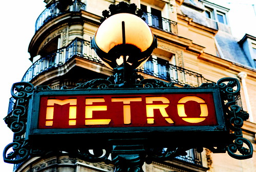 Paris Old Metro Signboard