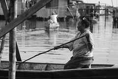 dalan (Farl) Tags: street old travel bw woman lady boats boat muslim philippines culture sulu roads tradition mindanao temper tawitawi samal sitangkai bajao