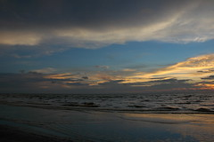 Clouds (tree22) Tags: sunset sky beach water clouds sand d70s miri sarawak borneo
