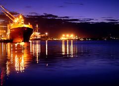 Porto de Itaja ( Murilo78) Tags: brazil rio brasil night river twilight ships porto noite santacatarina itaja seaport deepblue itajai crepsculo navios