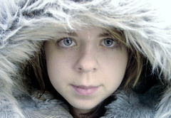 Dreaming of winter (memories_frozen) Tags: winter cold girl face female fur pretty coat fauxfur 1on1peoplephotooftheday