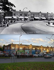 Tarbock Road, Huyton, 1940s and 2016 (Keithjones84) Tags: huyton liverpool oldliverpool merseyside thenandnow rephotography