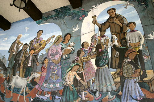 "Olvera Street Mural ""Blessing of the Animals"""