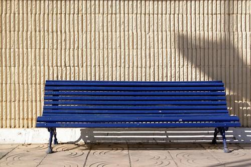 A Blue Bench