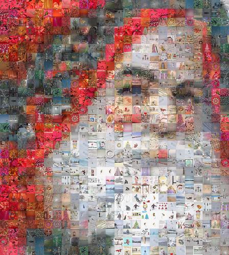 Mosaic Portrait: Father Christmas