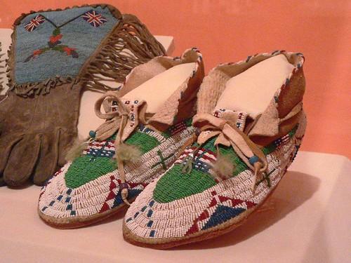 american sioux indian moccasins footwear leather beaded universityofutahmuseumofnaturalhistory