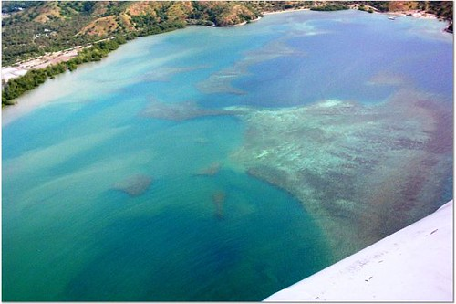 Helicopter shot of East Timor