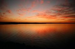 Sun & water (Délirante bestiole [la poésie des goupils]) Tags: sunset color topf25 water night tunisia albaluminis magical tunisie