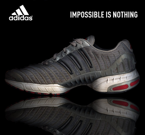 december 2005 adidas clima revolution climacool cool advertisement photoshop impossible is nothing shoe running stripes three tag1 tag2 tag3 taggedout