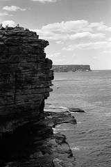 The Gap (inaudible) Tags: leica bw lenstagged leitz35f35summaron landscape thegap sydney watsonsbay cliff clouds sea ocean australia