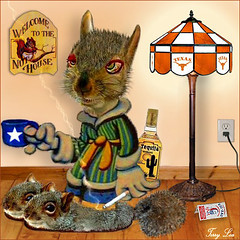 HAPPY NEW YEAR, Y'ALL (Terry_Lea) Tags: squirrel squirrels photoshopfun tbas