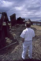 Man at Abandoned Fishing Village (Gary Lindquist) Tags: man fishing village columbia river dalles oregon s4300582