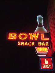 Bowl (Curtis Gregory Perry) Tags: road old travel light usa signs west color colour classic luz glass beautiful sign electric night america vintage wonderful licht us highway colorful neon pretty pin glow unitedstates state northwest bright lumire tube tubes bowl ne retro gas beaver lottery 99 american bowling signage western electricity pacificnorthwest americans glowing instructions colourful dying electrical vanishing fragile luce instruction muestra placard important advisory signe sinal neons oregonian  zeichen highway99 non segno ninetynine canby  biway    teken    us99  glowed    neonic