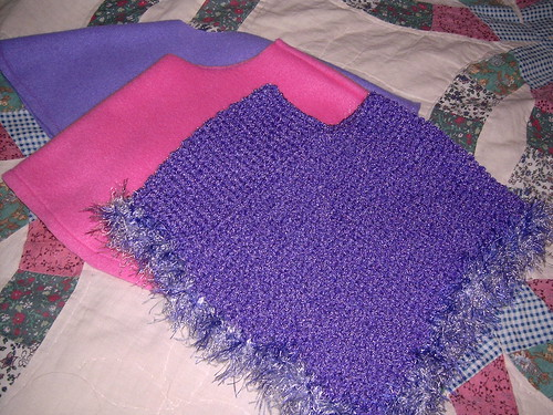 Purple Poncho for a New Baby