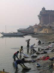 Dhobi Wallah's (Funky Chickens) Tags: india ganges ghats uttarpradesh varnasi