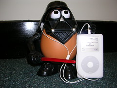 Darth Tater's iPod (DavidDMuir) Tags: uk ipod 20gb darthtater 4g christmaspresent myoffice ipodtrait 5cardflickr