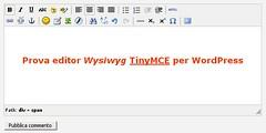 TinyMCE per WP