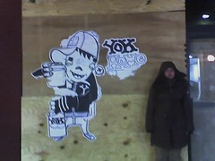 yok home (arimoore) Tags: shira yokhome yok pasteup streetart graffiti huge nyc newyork