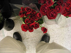 boots and roses (pbo31) Tags: sanfrancisco california park city flowers red roses urban black flower color nature northerncalifornia rose shop catchycolors garden season cherry pie ilovenature rouge boot flora seasons floor boots zoom grow citylife growth micro sanfranciscobayarea bayarea bunch bloom florist ruby safeway dubocetriangle californian watermellon blooming baycity sanfranciscan