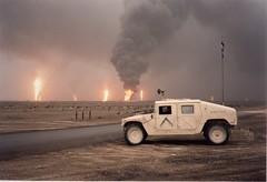 More Oil Fires in Kuwait (DigitalTribes) Tags: war peace iraq 1991 kuwait dt desertstorm digitaltribes operationdesertstorm markoneil oilfires