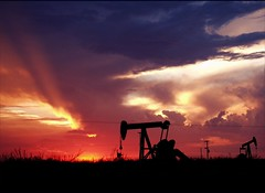 Odessa texas sunset (TexasValerie) Tags: sunset sky sun storm colors clouds jack colorful texas odessa well pump oil rays drilling texasthunderstorms cloudsstormssunsetssunrises