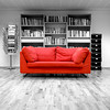 Finally Friday (Rune T) Tags: red bw topf25 photoshop manipulated wow cutout square relax wideangle sofa sit sigma1020mm