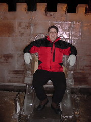 Dan resting on Ice Throne