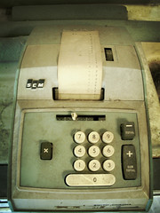 The Accountant (k.james) Tags: green sepia paper buttons tape numbers calculator tax taxes irs aged adding household package smithcorona 224 accounting bookkeeping maching daschle stimulus paperroll