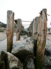 rock barrier (I, Puzzled) Tags: santacruz beach rock rocks delta 2006 seawall ipuzzled inlet barrier pilings breakers riodelmar santacruzcounty givemefive 200601 20060121 calforniacoast xgivemefive 20060121245