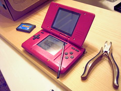 There it is...done (joeymink) Tags: pink painted nintendo ds nintendods assembly