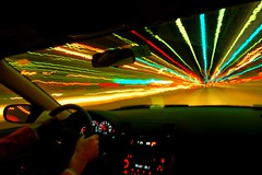 twenty seconds on the highway (Ben McLeod) Tags: longexposure car night driving newhampshire tollbooth hooksett sigma1224mmf4556dg howdidyoutakethat