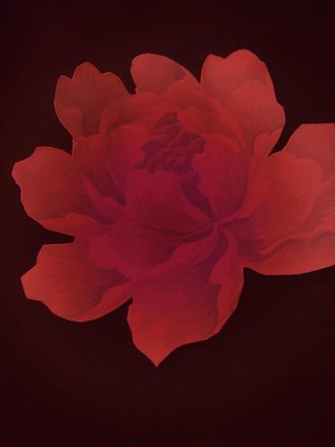 wallpaper red rose. Vintage wallpaper Red Rose