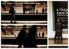 Touche pas à mon amour (fabbio) Tags: paris métro kisses baci recomposition bisous métroparisien lesamants pomiciate limonate collalingua 1metroopoco igodere