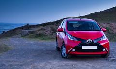 2014 Toyota Aygo X-Pression (ajf.350d) Tags: blue car sunrise landscape dawn twilight hill hour toyota clee aygo