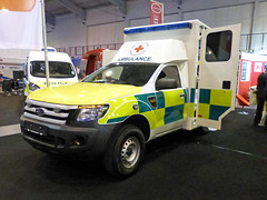 British Red Cross Ford Ranger (Emergency_Vehicles) Tags: blue light red ford by was amber ranger cross police 4wd exhibition ambulance national converted british fleet association managers napfm