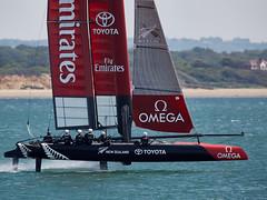 NZ Team (Bernie Condon) Tags: sea water boat sailing wind emirates nz solent boating sail southampton kiwi americascup calshot teamnewzealand
