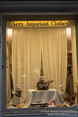 Bizarre Window Display For Very Important Clothes