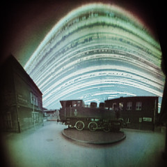 Sunny locomotive (marcinlil) Tags: sun poland pinhole locomotive mlp longexposition solarigrafia solargraphy