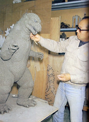 Godzilla model for Godzilla 1985 (Tom Simpson) Tags: sculpture film design model godzilla 1984 1980s behindthescenes godzilla1985