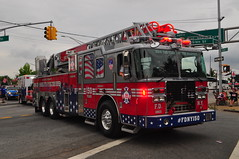 FDNY 150th Anniversary Ladder (Triborough) Tags: nyc newyorkcity ny newyork firetruck travis fireengine ferrara ladder statenisland fdny ffa richmondcounty newyorkcityfiredepartment fdny150