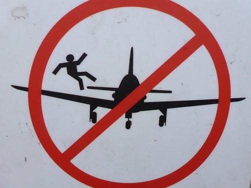 Merci de ne pas sauter de l'avion. Varsovie, Pologne
