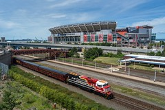 NS 974 At Cleveland, Ohio (Nolan Majcher) Tags: new york nyc lake chicago train energy stadium ns norfolk 911 central first line safety special route southern stop browns passenger former erie operation whistle lifesaver rebuild honoring waterlevel emd 974 trackage responders sd60e